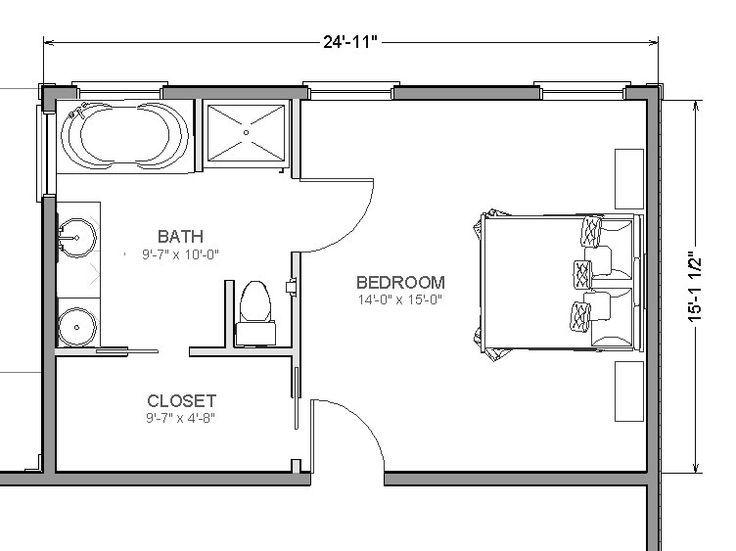 20' x 14' master suite layout - Google Search | Le petit ...