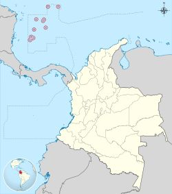 San Andrés and Providencia shown in the Caribbean map