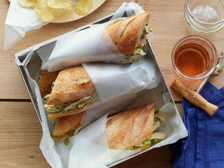Roast Chicken Salad Sandwiches Recipe : Food Network Kitchens : Food Network - FoodNetwork.com