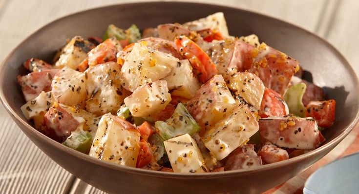 Montreal Grilled Potato Salad by mccormick: Add a fun flavorful twist to summertime potato salad by first grilling the potatoes and vegetables. #Salad #Potato #Grill