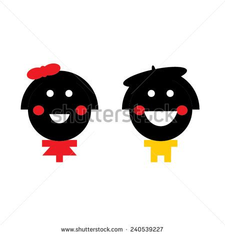 Vector smiley man and woman characters. - stock vector  #smile #vector #cartoon #manandwoman #smileycharacters   #shutterstock #vector #graphic #illustration #cartoon
