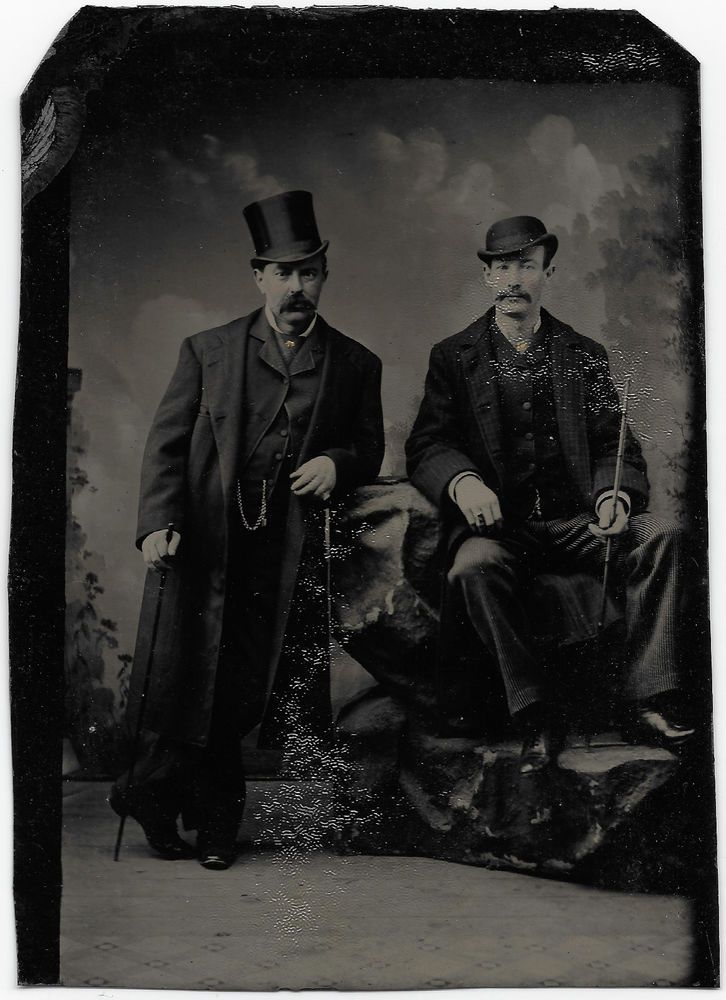 Tintype Photo >>JOHN PIERPONT MORGAN With J.P.M. JR.<< Circa 1886 Photo Tintype