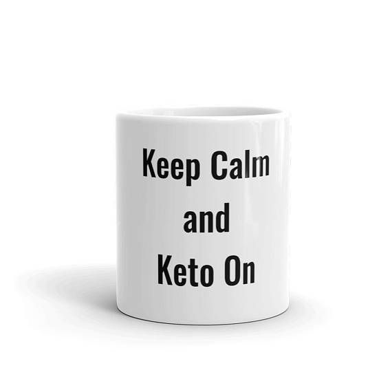 Keto Coffee Mug - Whether youre drinking your morning coffee with butter, your evening tea, or something in between – this mugs for you! Its sturdy and glossy with a vivid print thatll withstand the microwave and dishwasher. Sizes Choose 11 or 15 Fluid Ounces • Ceramic • Dishwasher and microwave safe •