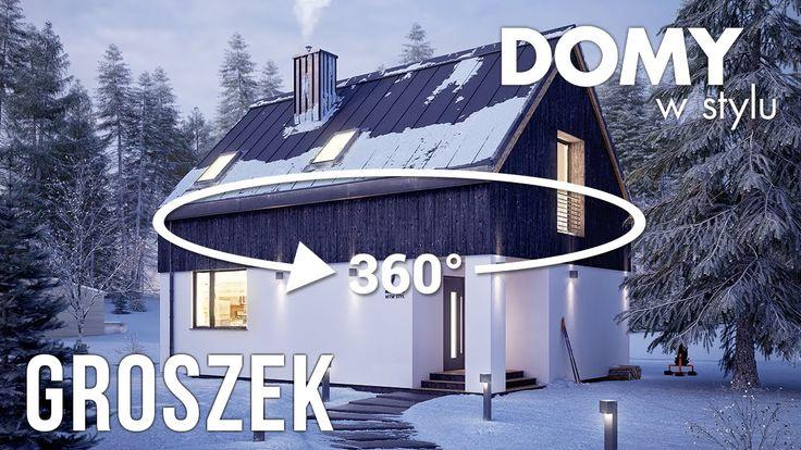 Groszek (80,39m2) to nieduży projekt domu z użytkowym poddaszem. Pełna prezentacja projektu dostępna jest na stronie: https://www.domywstylu.pl/projekt-domu-groszek.php. #groszek #panorama #dom #domywstylu #mtmstyl #projekty #projekt #architektura #arcitecture #home #houses #design #newdesign #housesdesign