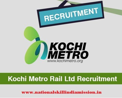 Kochi Metro Rail Limited-recruitment  Kochi Metro Rail Limited invites application for the post of General Manager (Water Transport) on regular basis. Apply Online before 22 February 2017.   Advt No. : KMRL/HR/20170202  Job Details :  Post Name : General Manager (Water Transport) No of Vacancy : 01 Post Pay Scale : Rs. 51300-73000/- Eligibility Criteria :  Educational Qualification : For more details click:
