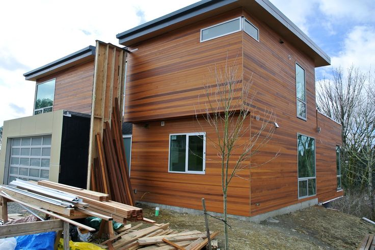 Contemporary Home With Cedar Horizontal Siding Images