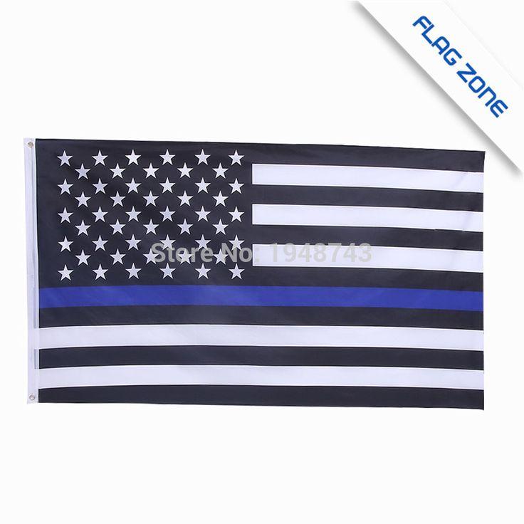 BlueLine ee. uu. Banderas de Policía, 3 Por 5 Pies Delgada Línea Azul EE. UU. Bandera Negro, línea roja de la bandera, con Arandelas de Latón Epacket Envío de La Gota