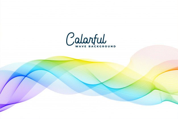 Download Colorful Wavy Abstract Background For Free Abstract