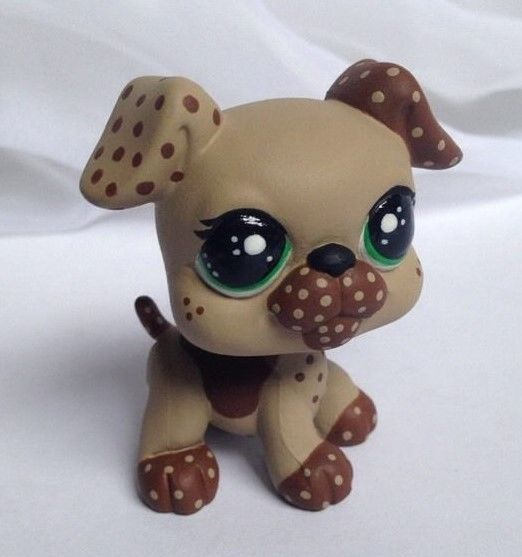 Littlest pet shop * Cocoa Chip * Custom Hand Painted LPS Dog OOAK #Hasbro