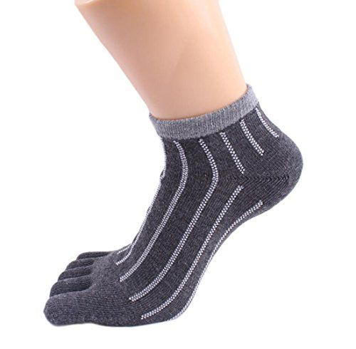 Tomily Cotton Plaid Stripe Five Finger Full Toe Socks for Women 12 Value Pack Dark Grey Stripe *** Read more reviews of the product by visiting the link on the image.