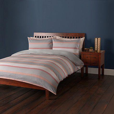 Buy John Lewis Sahara Stripe Cotton Jacquard Duvet Cover and Pillowcase Set Online at johnlewis.com