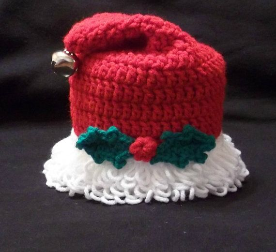 Santa Hat Toilet Paper Topper by NiftyNeedlework on Etsy, $13.59