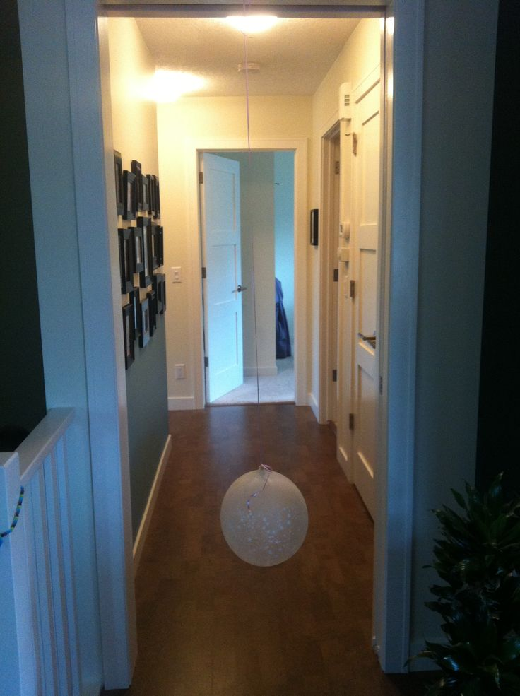 Hang a balloon upside down in a doorway - we have been playing with this for a week now and all M's friends love it when they come over.
