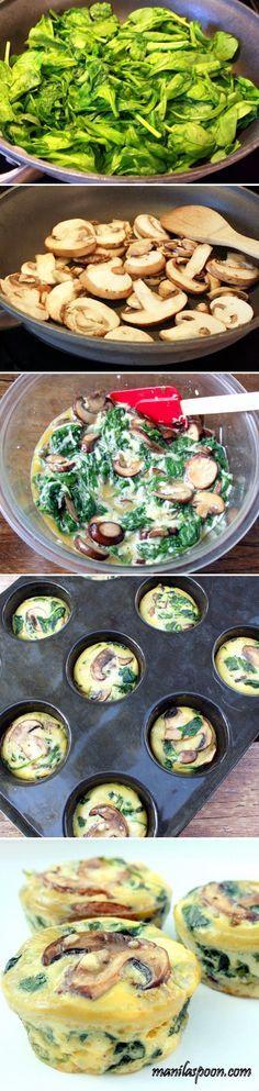 Tazas de espinacas Receta de Huevo | Foto