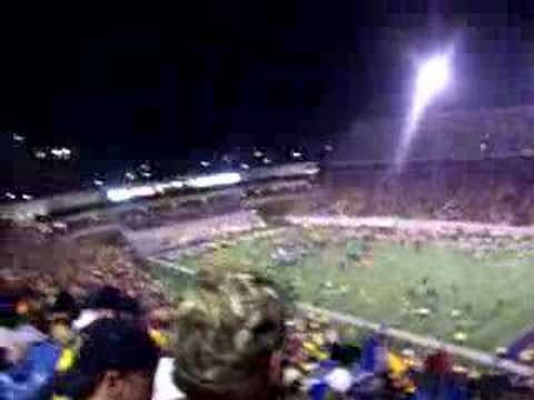 """Last play and singing """"Country Roads"""" (twice) after 2006 triple overtime win over Rutgers"""