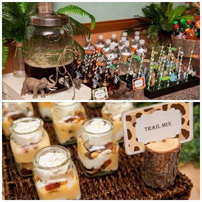 jungle party | safari-jungle-theme-party-dessert-table