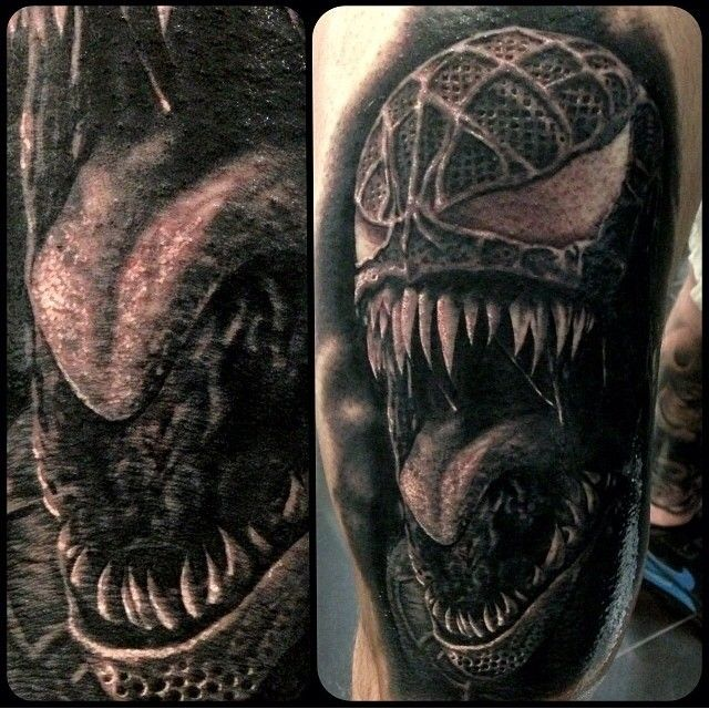 Venom Tattoo Designs: Spider-Man 3 Venom Tattoo