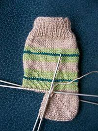 Meias de 4 agulhas, padrão de tricô - passatempos criativos