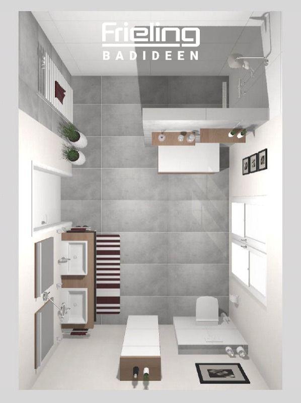 Das Grosse Duschbad 3d Planung Vogelperspektive Bodentiefe Fenster Im Bad Walk In Dusche In 2020 Badezimmer Grundriss Walk In Dusche Badezimmer Gestalten