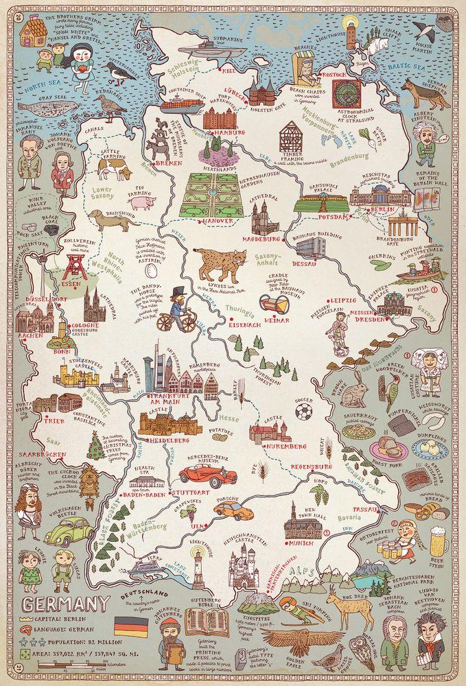 die besten 25 deutschlandkarte ideen auf pinterest
