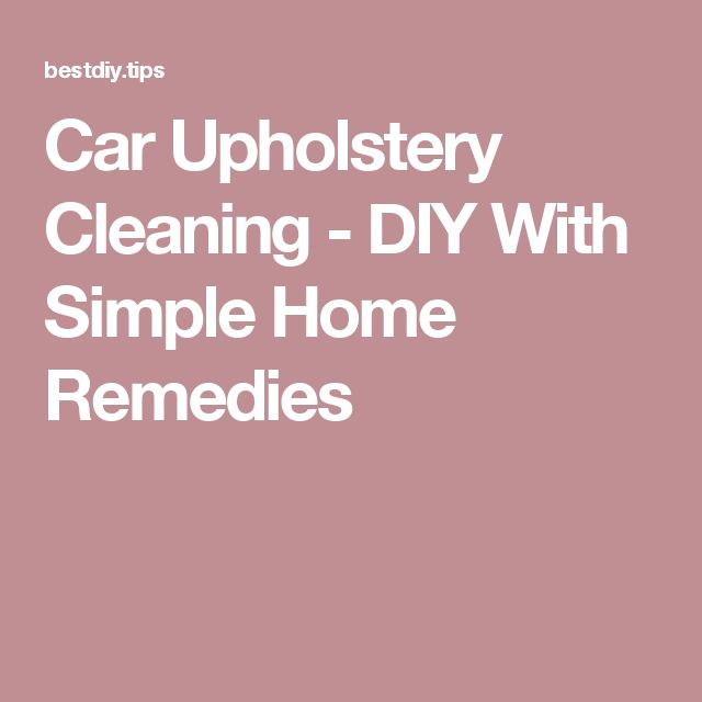 how to clean car upholstery youtube