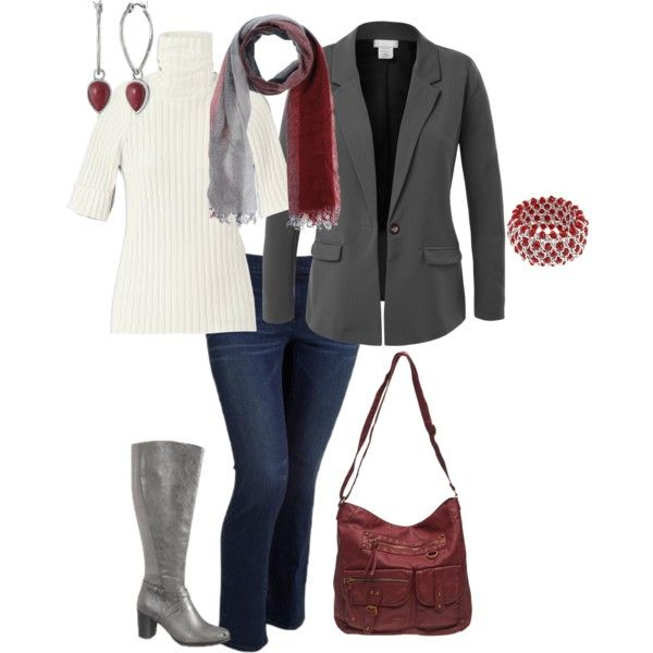 """""""Plus size fall outfit"""" by penny-martin on Polyvore"""