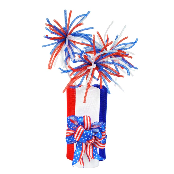 Deco Mesh Firecrackers #decomesh #patriotic #usa #4thofjuly | Summer ...