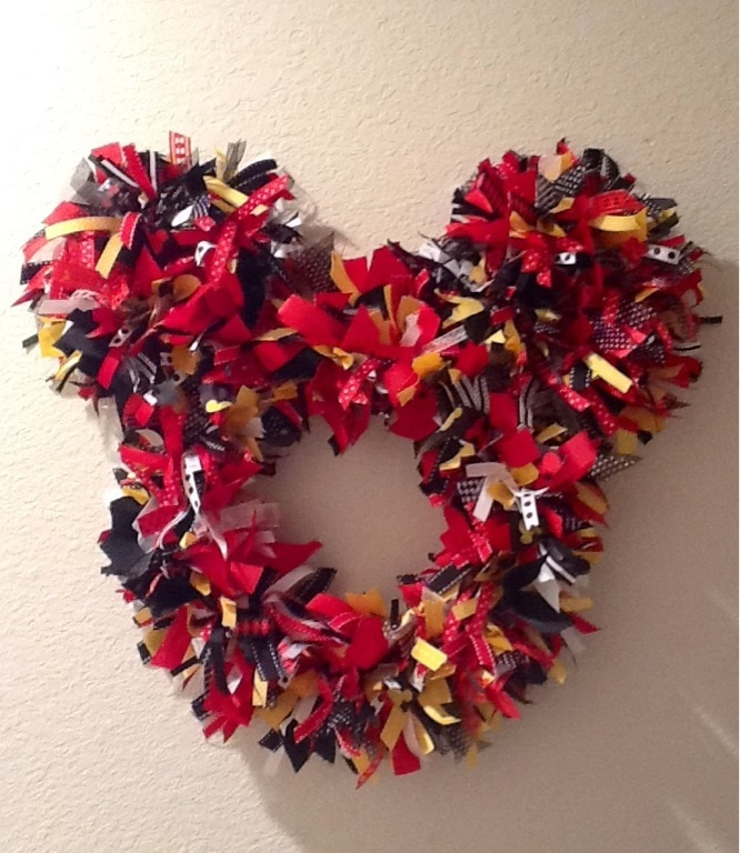 Mickey Mouse wreath for my classroom door