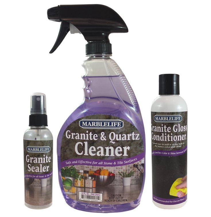 MARBLELIFE Granite Countertop Clean & Seal Care Kit