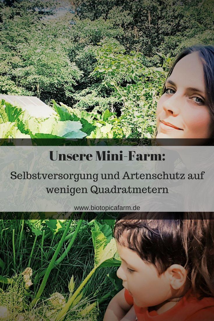 Wie wenige Quadratmeter ausreichen um Lebensmittel anzubauen und die Artenvielfalt zu schützen, erfährst du hier: www.biotopicafarm.de