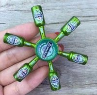 Wish | NEW Metal fashion beer bottle Shape Fidget hand spinner Toy EDC stress