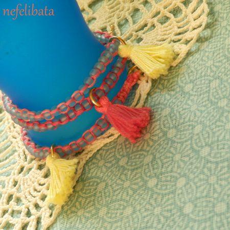 To see the dawn: boho chic handmade bracelet - boho - boho chic - bohemian - ethno - jewelry - jewellery - ethnic - nefelibata - free - freedom - multistrand - tassel