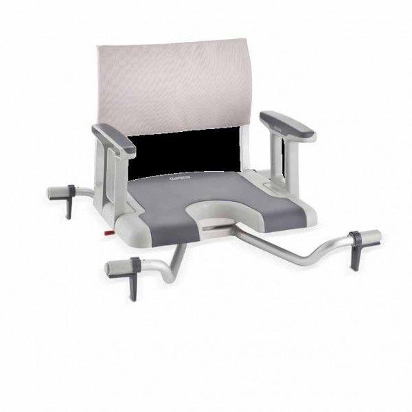 ASIENTO GIRATORIO DE BAÑERA - REF: SORRENTO: Es la primera silla de su clase que está realizada con el revestimiento de TPE en el asiento y los reposabrazos.