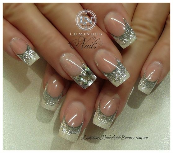 Silver and Pearl - Nail Art Gallery by NAILS Magazine #nailart