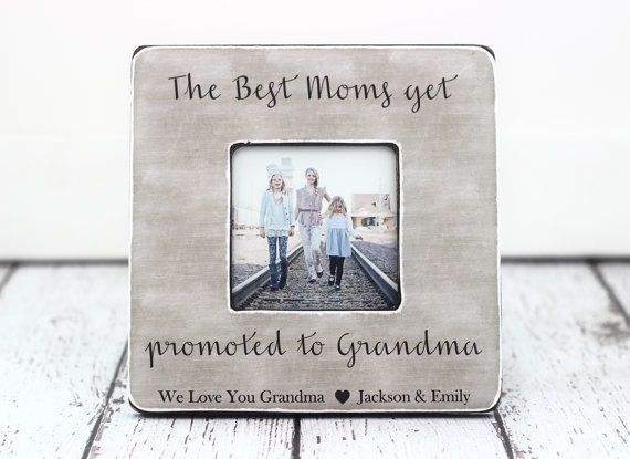 grandma grandmother personalized picture frame mothers day gift the best moms get promoted to grandma