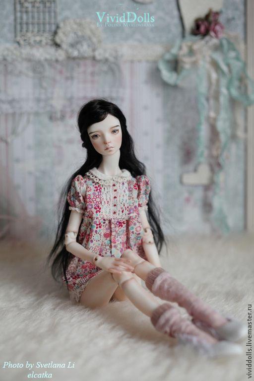 Купить Джо - черный, фарфор, шарнирные куклы, фарфоровые куклы, шарниная кукла, авторска кукла