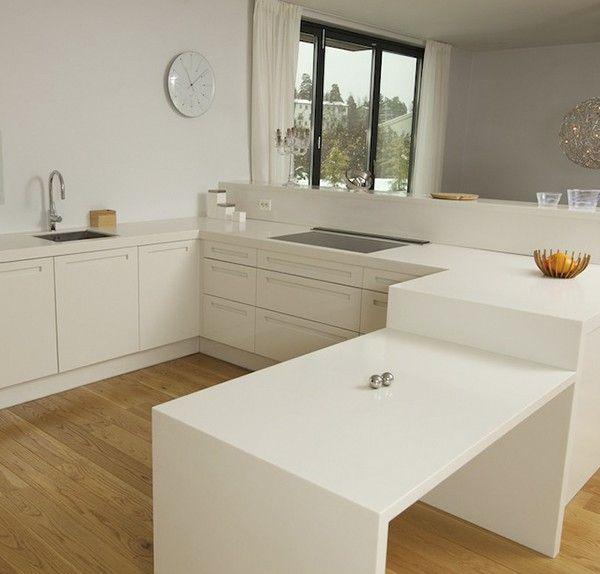 Bilderesultat for benkeplate kjøkken hvit