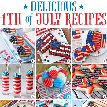 For a 4th of July party, red, white and blue party food is a must. These 4th of July recipes aren't just delicious, they're pretty, too!