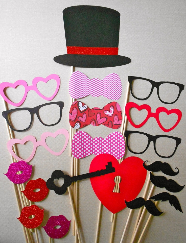valentine photo booth printables