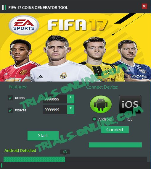 FIFA 17 Coins Generator Tool Android iOS