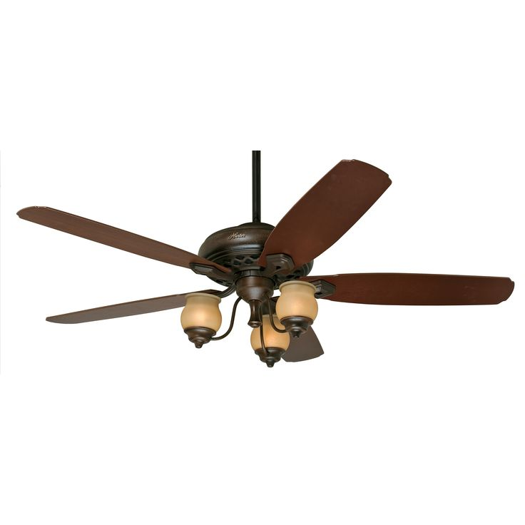 Hunter 64 Inch Provence Crackle Finish Ceiling Fan With Amber Painted