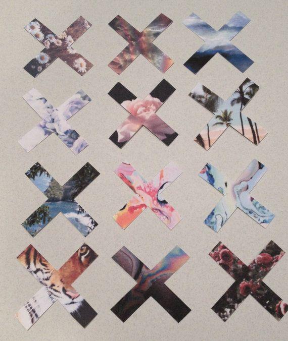 Set of Twelve The XX Stickers