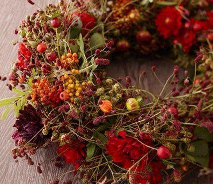Herbstkranz Früchte