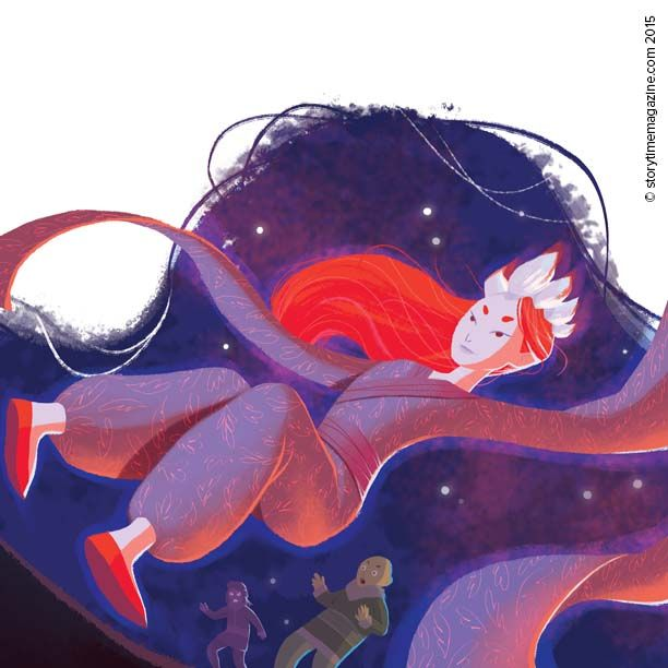Witches with backwards feet in Storytime Issue 14. Illustration by Marine Gosselin (http://marinegosselin-illustration.jimdo.com) ~ STORYTIMEMAGAZINE.COM