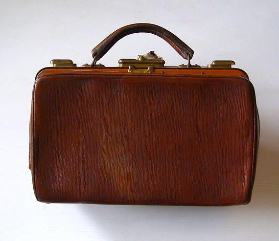 sac Docteur ancien/Sac à main en cuir