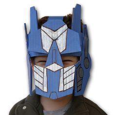 Transformer helmet made from cardboard