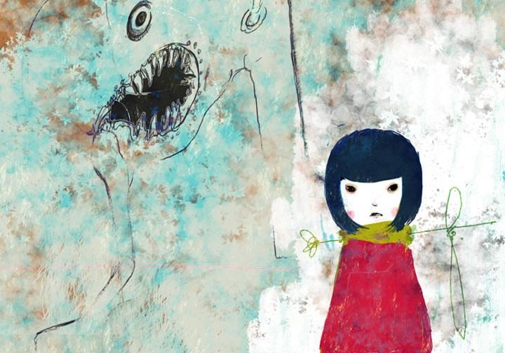 I adore artist Anyuu Rizumu's melancholic, but oh so cute, art.