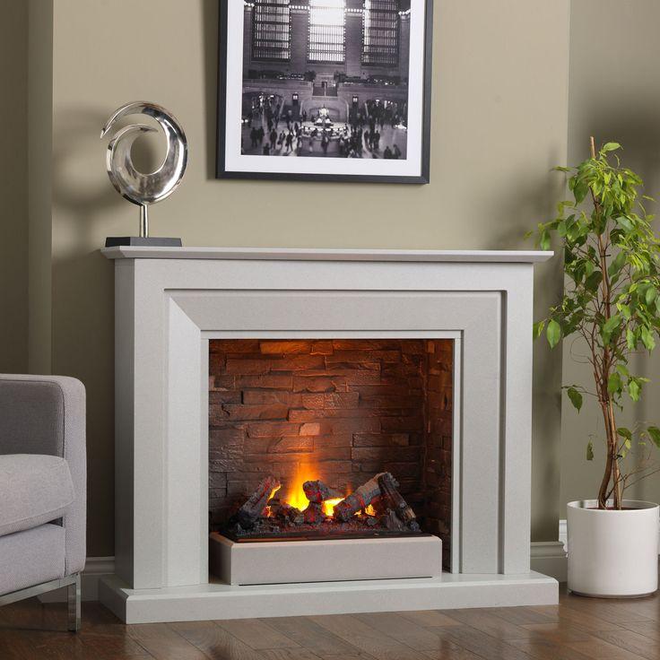 Venice Electric Fireplace Suite