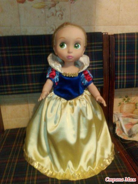 МК Шьем платье Белоснежки часть 1 / Мастер-классы, творческая мастерская: уроки, схемы, выкройки кукол, своими руками / Бэйбики. Куклы фото. Одежда для кукол