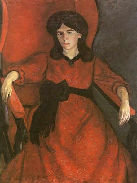 Lisa in an Armchair (also known as Portrait of the Artist's Wife) Robert Falk (1910)